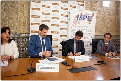 Fedeto firman con el GRUPO MPE un convenio para implementar las actuaciones en Prevención de Riesgos Laborales