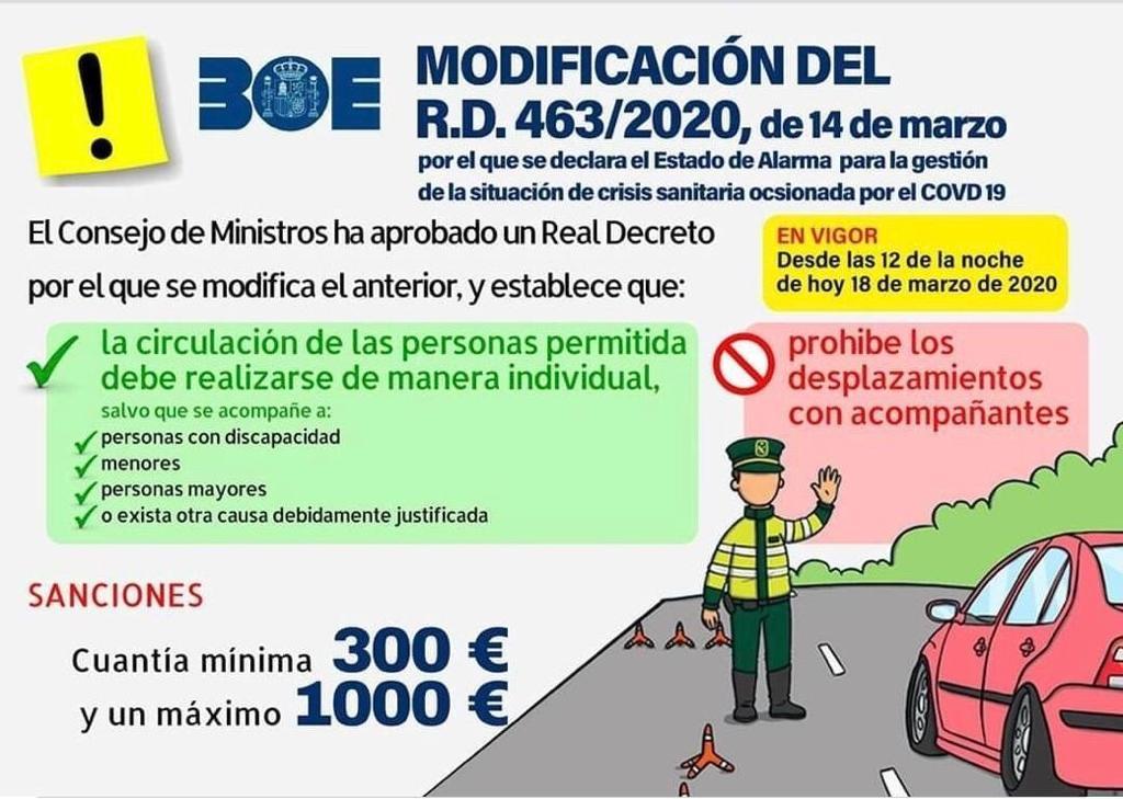 Información del Estado sobre la circulación con vehículos