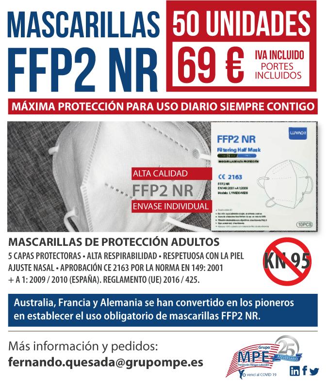 NUEVA OFERTA! Mascarillas FFP2