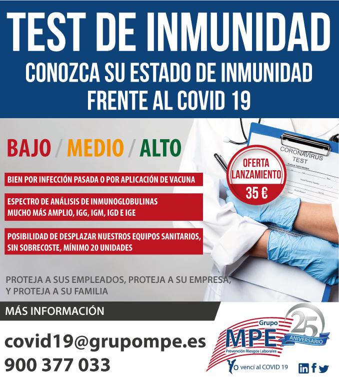 NUEVOS TEST DE INMUNIDAD Y ANTICUERPOS TOTALES COVID-19